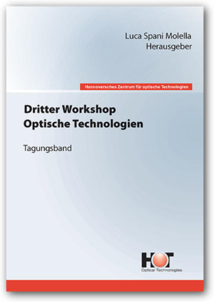 Dritter Workshop Optische Technologien - Coverbild