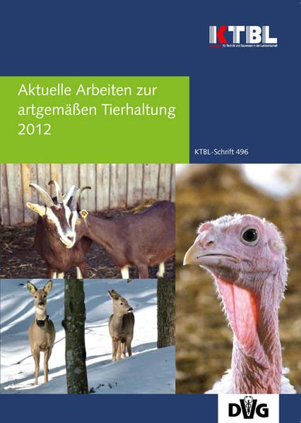 Aktuelle Arbeiten zur artgemäßen Tierhaltung 2012 - Coverbild