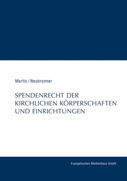 Spendenrecht der kirchlichen Körperschaften und Einrichtungen - Coverbild