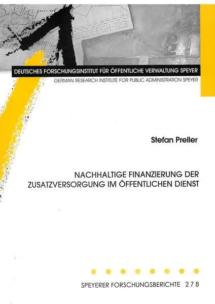 Nachhaltige Finanzierung der Zusatzversorgung im öffentlichen Dienst - Coverbild