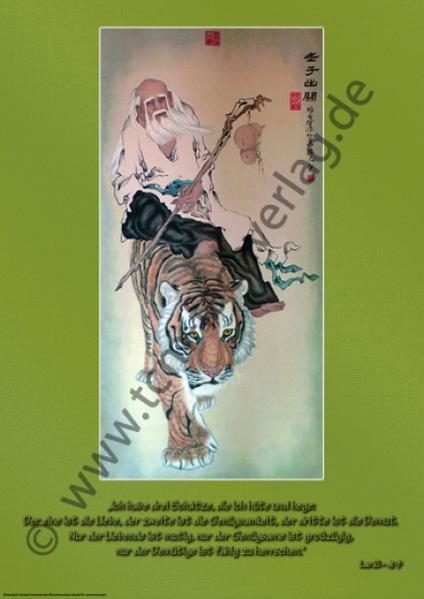 """Lao Zi auf dem Tiger reitend"" von Gui Yuan Tang - 桂元书 - Coverbild"
