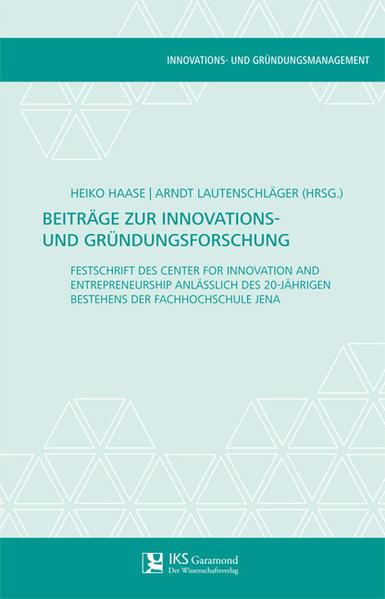 Beiträge zur Innovations- und Gründungsforschung - Coverbild