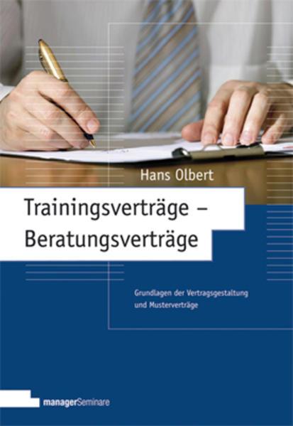 Trainingsverträge - Beratungsverträge - Coverbild