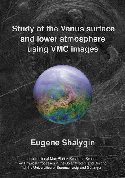 Study of the Venus surface and lower atmosphere using VMC images - Coverbild