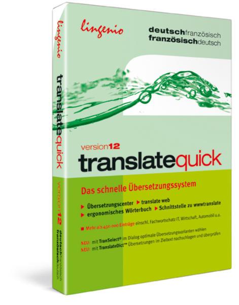 translate quick 12 Deutsch-Französisch - Coverbild
