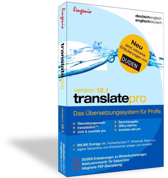 translate pro 12.1 Deutsch-Französisch - Coverbild