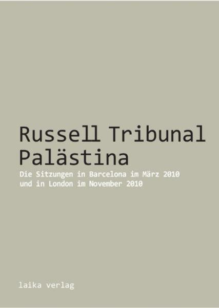 Kostenlose PDF Russell Tribunal Palästina