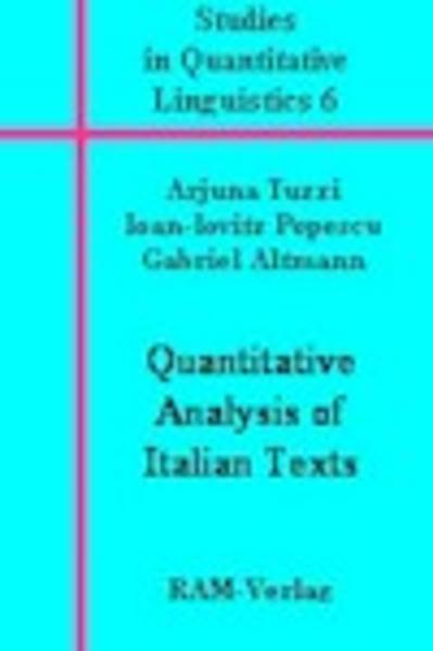 Quantitative Anlaysis of Italian Texts - Coverbild