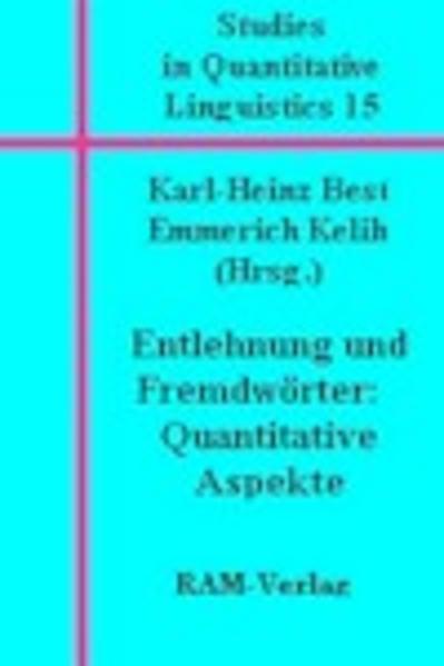 Studies in Quantitative Linguistics 15 - Coverbild