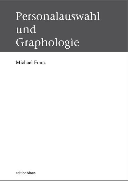 Personalauswahl und Graphologie - Coverbild