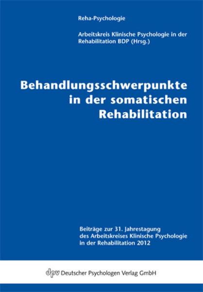 Behandlungsschwerpunkte in der somatischen Rehabilitation - Coverbild