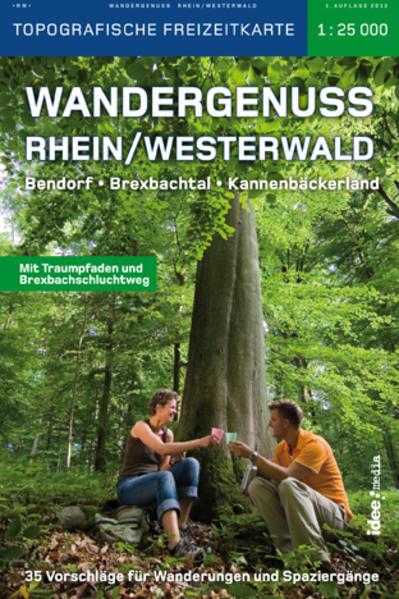 Wandergenuss Rhein-Westerwald Topographische Wander-und Freizeitkarte 1:25 000 - Coverbild