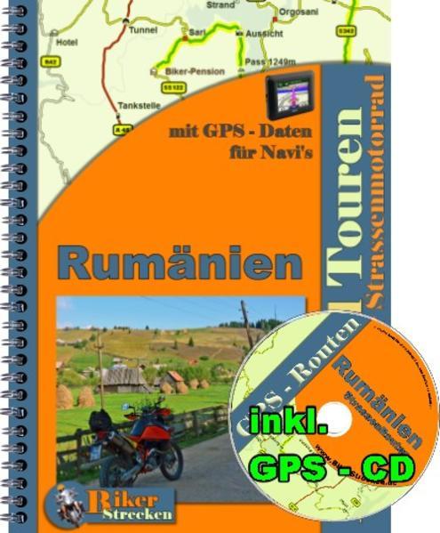 Reiseführer 2 Wochen Motorradtour durch Rumänien ( Strasse ) inkl. GPS-CD ( Routen ) für Motorradnavi - Coverbild