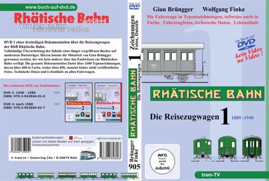 Rhätische Bahn - Die Reisezugwagen - Coverbild