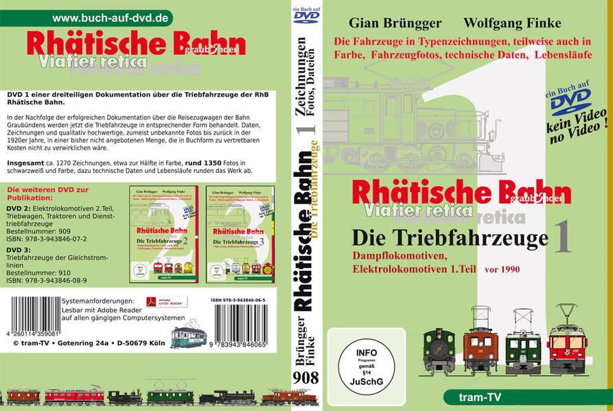 Rhätische Bahn - Die Triebfahrzeuge Teil 1 - Coverbild