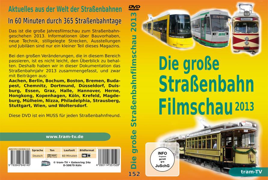 Die große Straßenbahnfilmschau 2013 - Coverbild