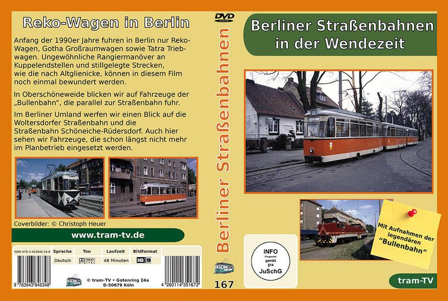 Berliner Straßenbahnen in der Wendezeit - Coverbild