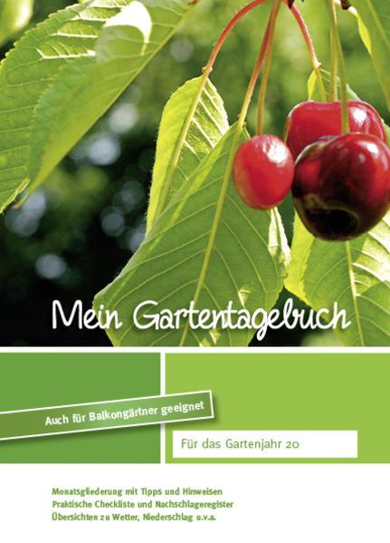 Mein Gartentagebuch - kirschenrot - - Coverbild