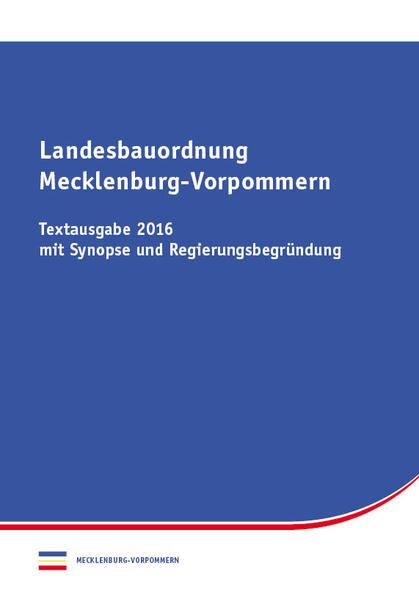 Landesbauordnung Mecklenburg-Vorpommern - Coverbild