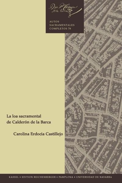 La loa sacramental de Calderón de la Barca - Coverbild