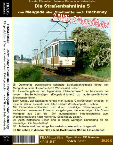 DVD Straßenbahn Dortmund Linie 5 / Mengede nach Hacheney - Coverbild