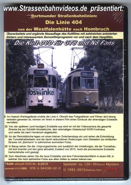 Straßenbahn Dortmund Linie 4  von der Westfalenhütte zur Schleife Hombruch - Coverbild