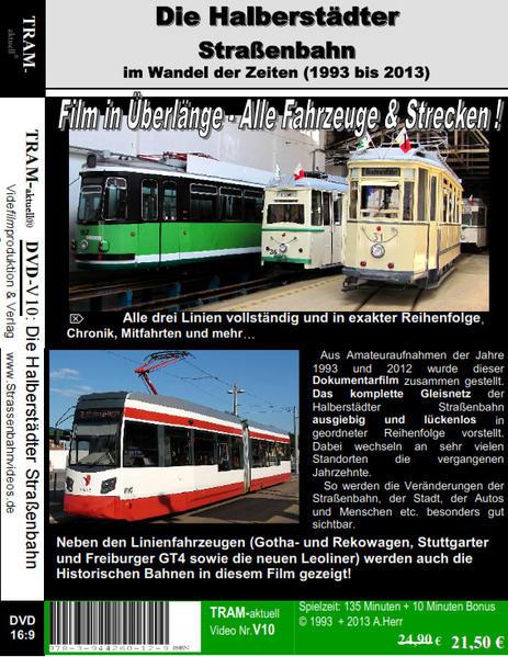 Die Straßenbahn in Halberstadt in den Jahren 1993+2012 - Coverbild