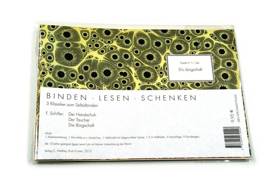 Binden Lesen Schenken: F. Schiller: Der Handschuh / Der Taucher / Die Bürgschaft - Coverbild