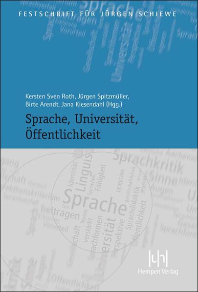 Sprache, Universität, Öffentlichkeit - Coverbild