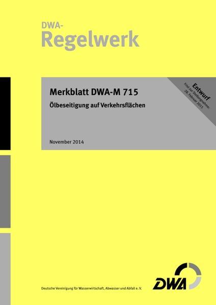 Merkblatt DWA-M 715 Ölbeseitigung auf Verkehrsflächen - Coverbild