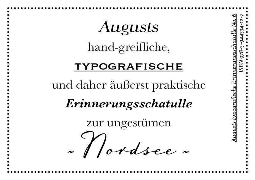 Augusts Erinnerungsschatulle Nordsee - Coverbild