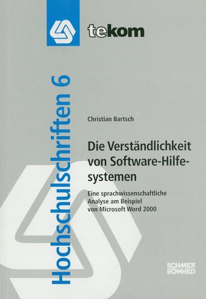 Die Verständlichkeit von Software-Hilfesystemen - Coverbild