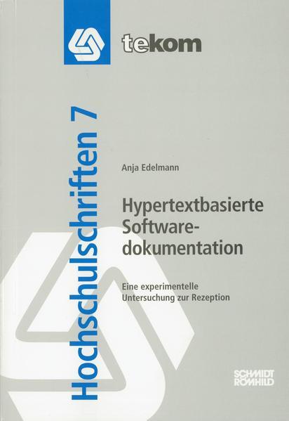 Hypertextbasierte Softwaredokumentation - Coverbild