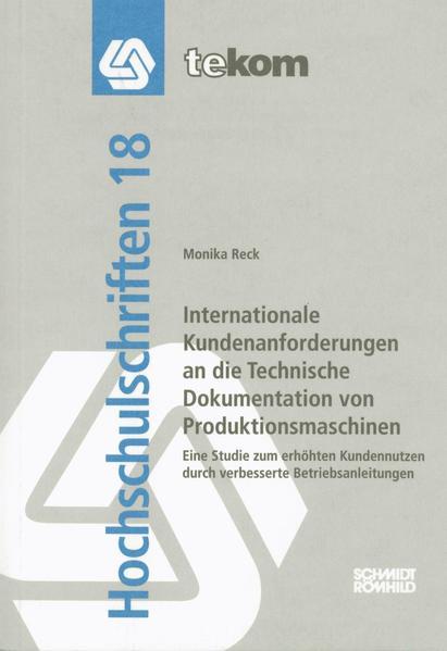 Internationale Kundenanforderungen an die Technische Dokumentation von Produktionsmaschinen - Coverbild