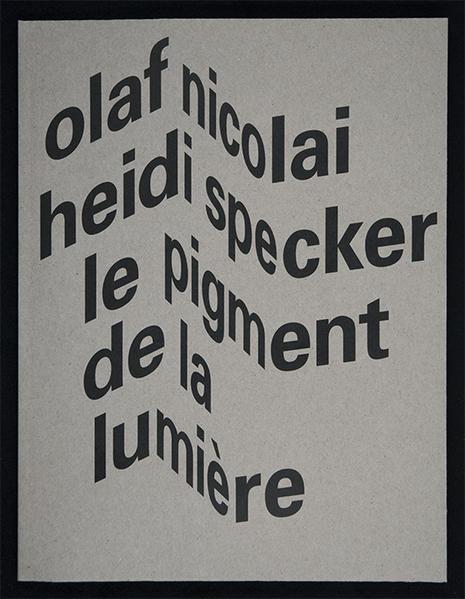 Le pigment de la lumière - Coverbild