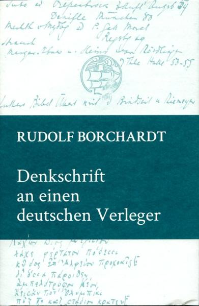Denkschrift an einen deutschen Verleger - Coverbild