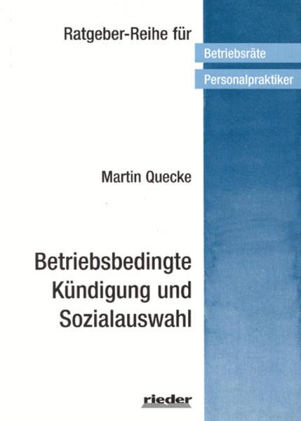 Betriebsbedingte Kündigung und Sozialauswahl - Coverbild