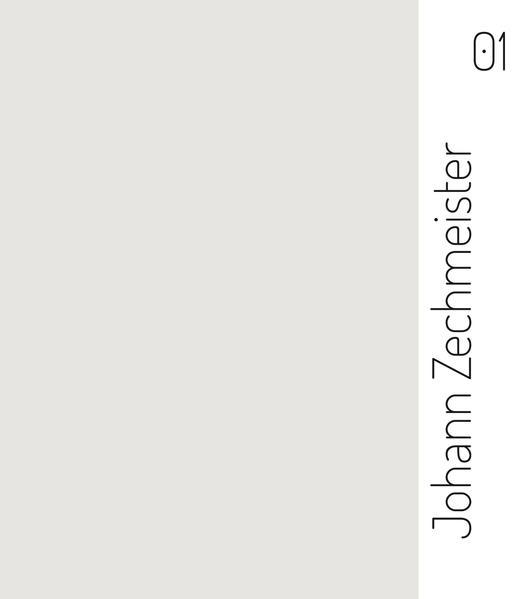Johann Zechmeister. 01 - Coverbild