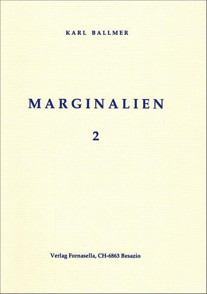 Marginalien 2 - Coverbild