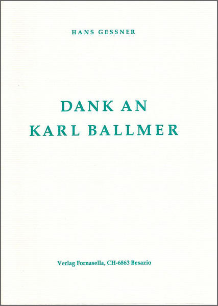 Dank an Karl Ballmer - Coverbild