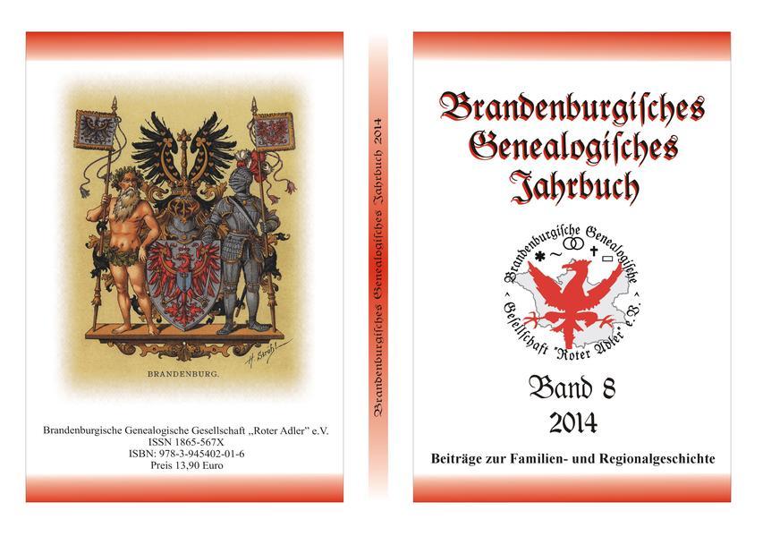 Brandenburgisches Genealogisches Jahrbuch 2014 - Coverbild