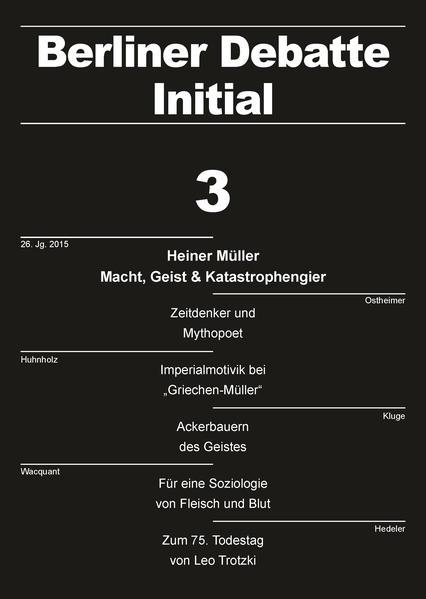 Heiner Müller: Macht, Geist & Katastrophengier - Coverbild