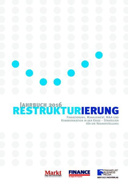Jahrbuch Restrukturierung 2016 - Coverbild