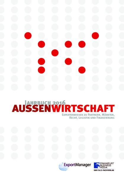 Jahrbuch Außenwirtschaft 2016 - Coverbild