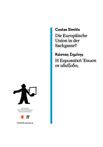 Die Europäische Union in der Sackgasse? - Coverbild