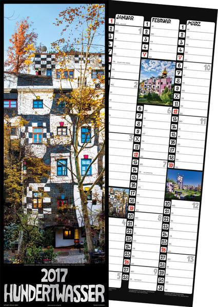 Hundertwasser Streifenkalender Architektur 2017 - Coverbild