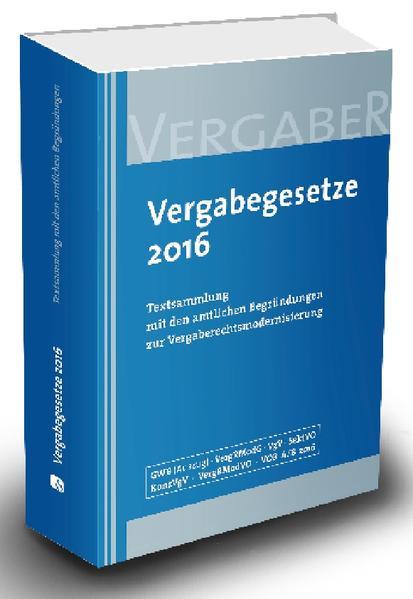 Vergabegesetze 2016 - Coverbild