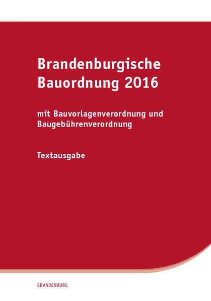 Brandenburgische Bauordnung 2016 - Coverbild