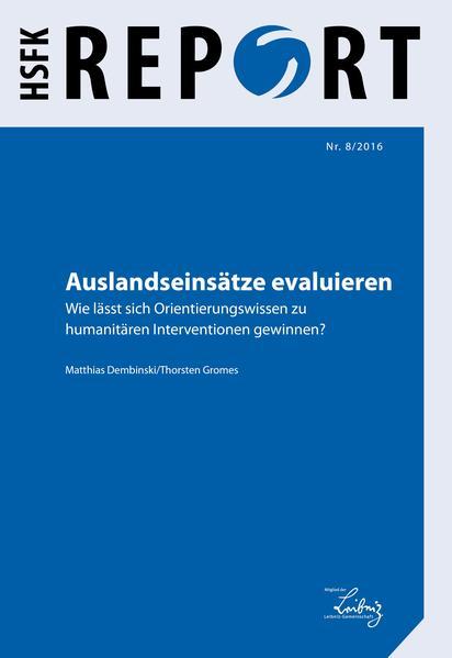 Auslandseinsätze evaluieren - Coverbild