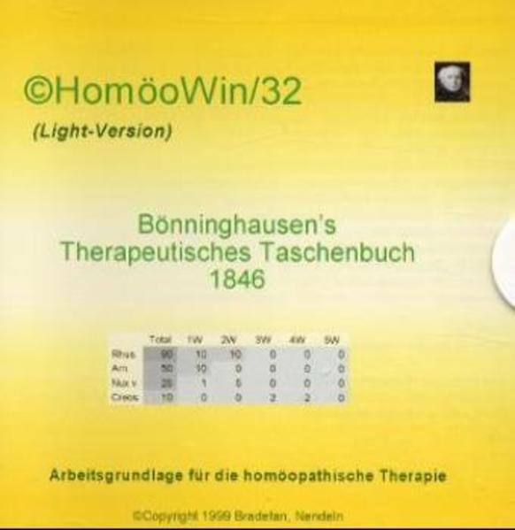 HomöoWin/32 (Light) - Bönninghausen's therapeutisches Taschenbuch 1846 - Coverbild